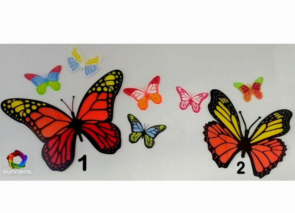 Schmetterling Eyecatcher U201c Mega Groß U201c U2013 Zweifarbig