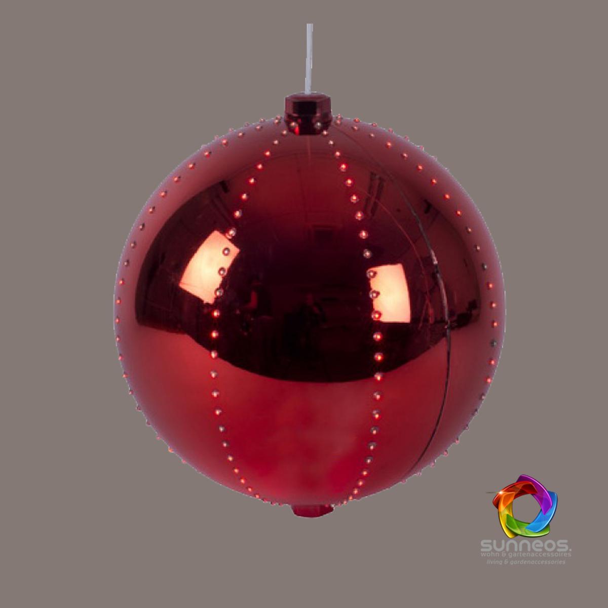 Snowball LED-Kugel Weihnachtskugel ca. Ø 16 cm o. 8 cm | Sunneos